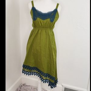 Matilda Jane Clothing women's Green Sun-Dress